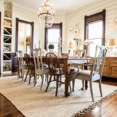 Gorgeous Country Dining Room in Cream and Brown