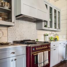 Purple Oven Pops in Neutral Country Kitchen