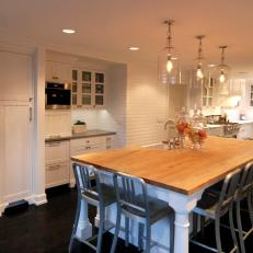 White And Black Traditional Kitchen black and white traditional kitchen photos | hgtv