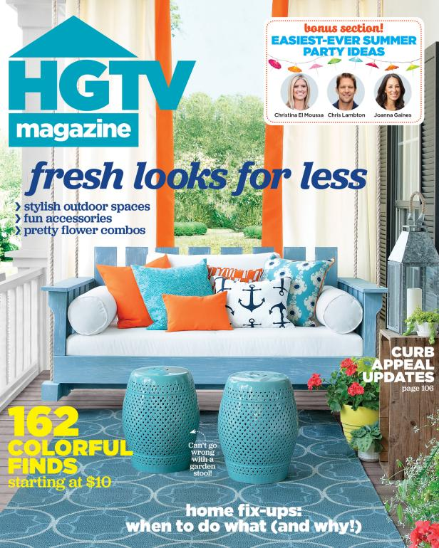HGTV Magazine July/August 2015 Cover