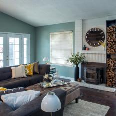 Cozy Transitional Living Room Full of Light