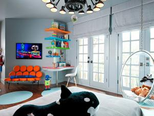Fun Contemporary Kids Room