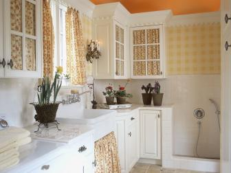 Bright Galley Laundry Room