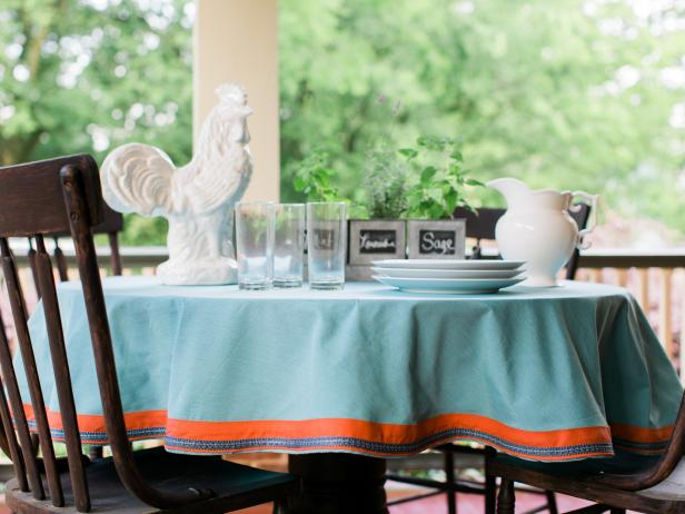 How to Make a Ready-Made Table Cloth Look Custom