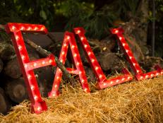 Usher in fall and the start of the entertaining season with the warm glow of these vintage-inspired marquee-style letters.