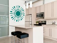 Utensil Burst Decal in Kitchen