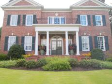Brick Traditional Home with Columned Entryway