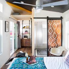 Small Bedroom With Eclectic Flair