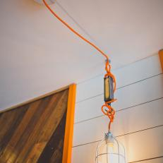 Orange Cord Pendant Lights