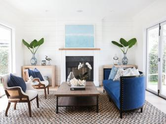 White Coastal Living Room