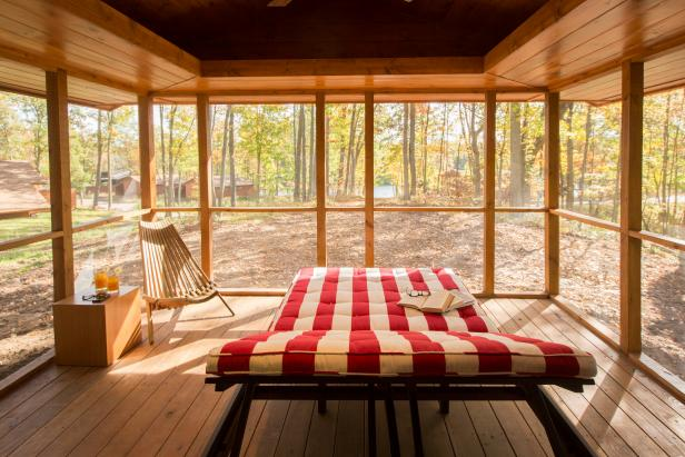 Cozy Screened Porch Is Ideal for Relaxation
