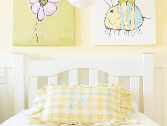 Kid Art Adds Personalized Touch to Delightful Girls' Room