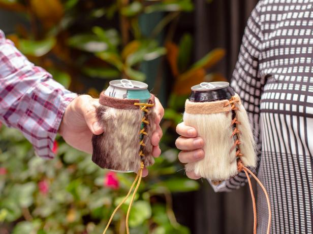 DIY Faux-Fur Insulating Drink Sleeve
