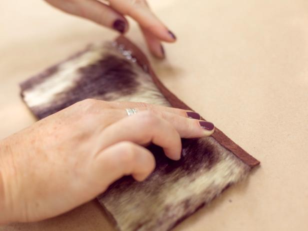 Step 4- Glue & Fold Top Edge of Felt