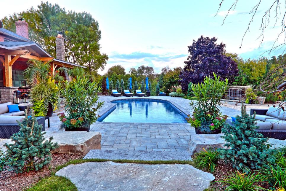 swimming pool design ideas hgtv - Swimming Pool Landscape Designs