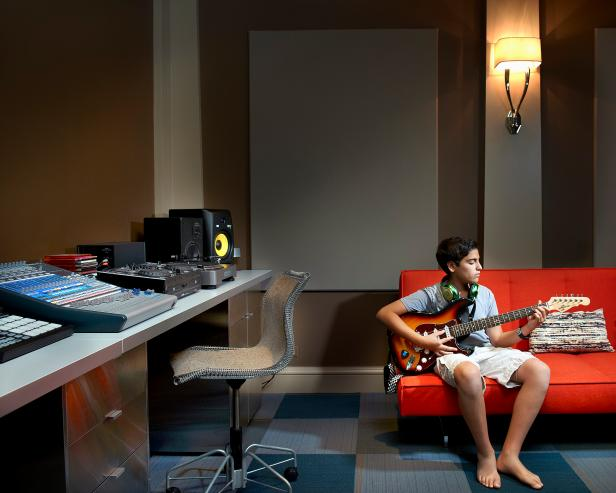 Music Studio in Basement