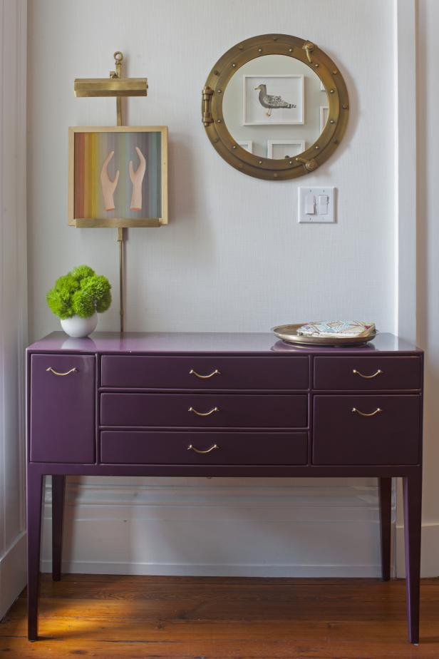 Purple Console Table