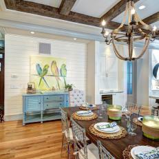 White Coastal Dining Room Photos | HGTV