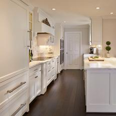dark wood floor kitchen. Beautiful Traditional Kitchen White Cabinetry  Dark Hardwood Floors Photos HGTV