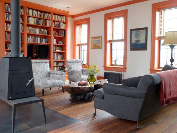 Traditional Living Room in Restored Brooklyn Townhouse