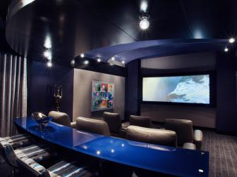 Bar Area in Home Theater Room