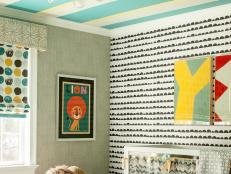 A Mix of Patterns & Color in Boy's Nursery