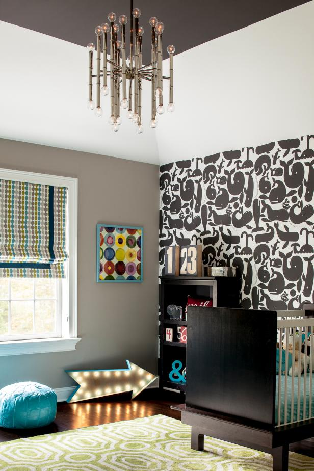 Boy's Nursery With Bold Patterns