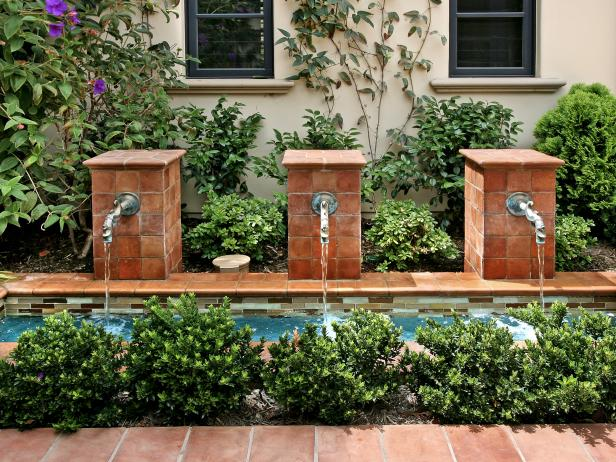 Dual Courtyard Fountains