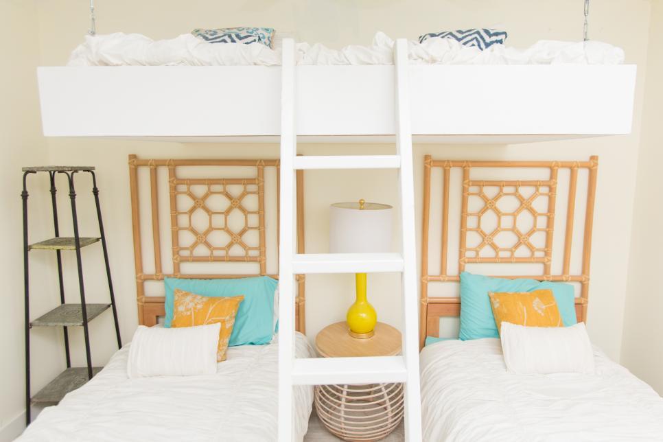 Modern Guest Room : Bold, Modern Beach House Guest Bedroom  Beach Flip  HGTV