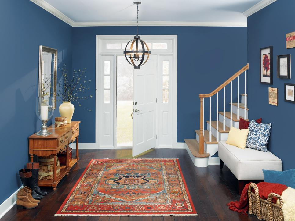 blue color living room.  Navy Blue Color Palette Schemes HGTV