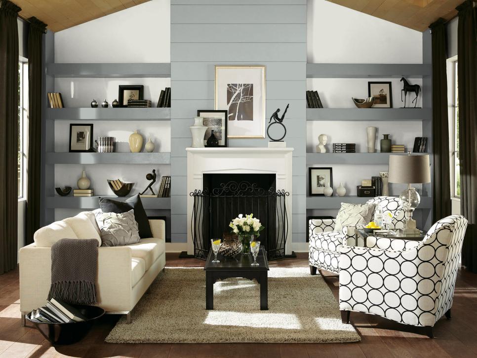 Gray color palette gray color schemes hgtv for Decor vs decoration