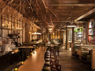 Hip, Organically Inspired Restaurant With Warm Ambiance