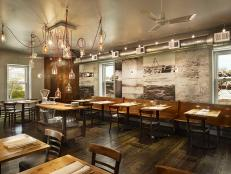 Second-Story Dining Room Features Upcycled Chandelier