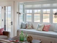 Ocean-Inspired Living Room With Cozy Window Seat