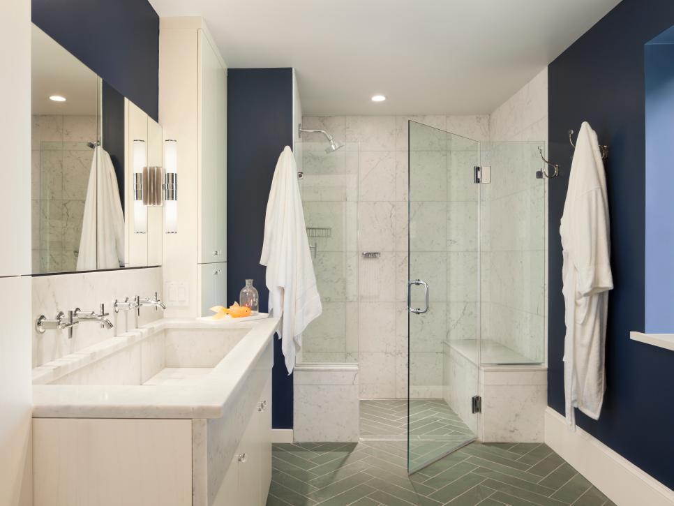 Indigo color palette indigo color schemes hgtv for Crazy bathroom designs