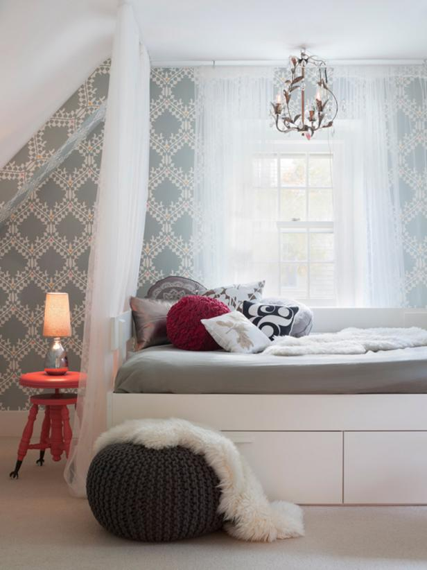 Transitional Teen Bedroom With Romantic Feel