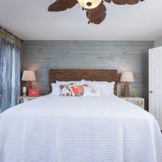 rustic wood feature wall - Feature Wall Bedroom