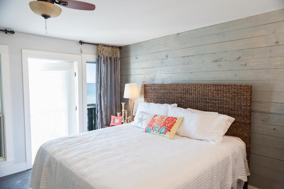 Rustic Chic Master Bedroom Renovation From HGTVs Beach Flip