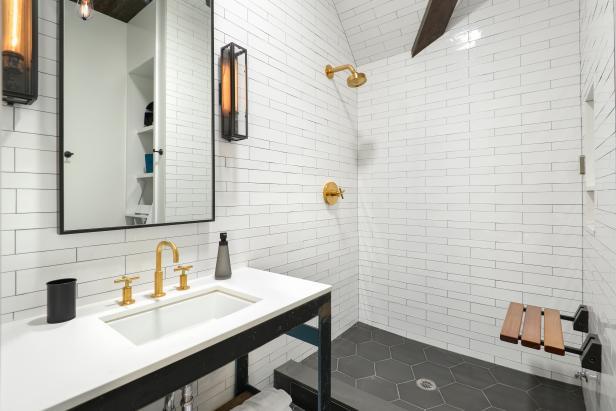 White Bathroom With Subway Tile