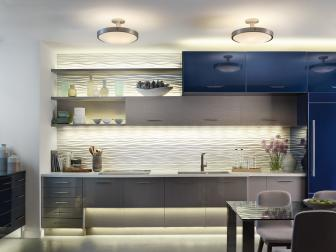 Layers of Lighting in Contemporary Kitchen