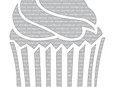 Cupcake Pumpkin-Carving Template