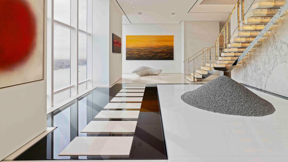 15 rooms in a mind blowing nyc penthouse hgtv for Interior zen garden