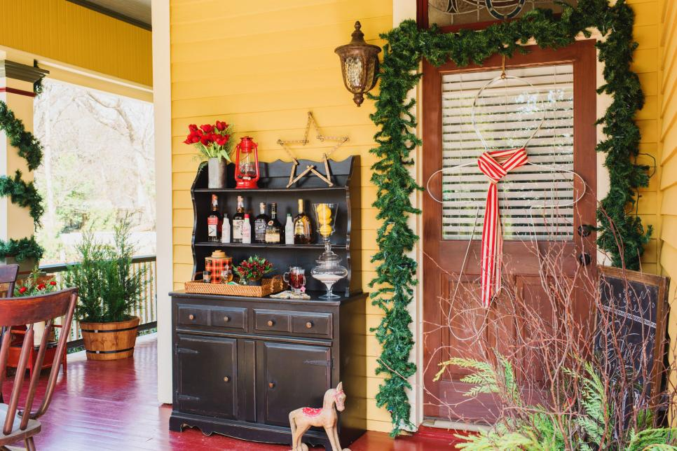 vintage and country holiday decor for a front porch hgtv vintage and country holiday decor for a front porch hgtv