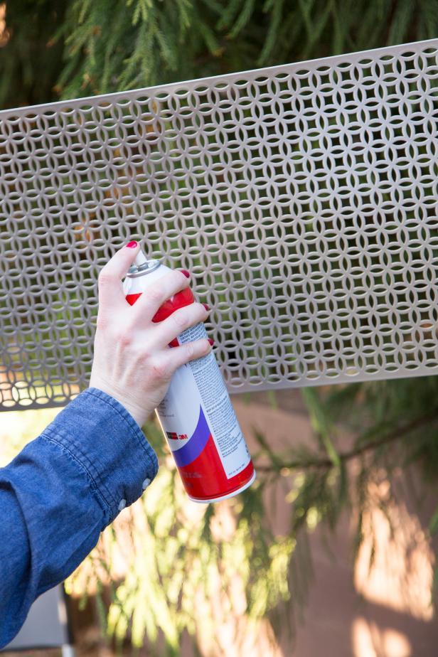Step 1: Mist Panel With Spray Adhesive
