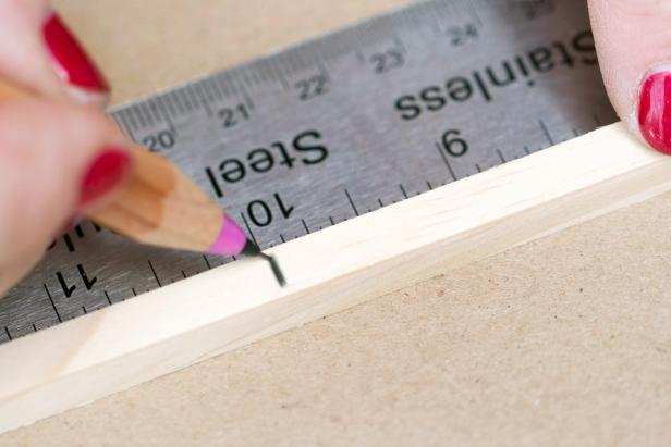 Step 1: Measure & Mark Dowels
