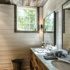 Perfect Rustic Style Bathroom With Reclaimed Wood