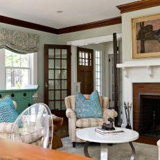 Family Room With Updated Cottage Charm