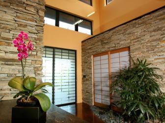 Neutral Asian Foyer With Shoji Doors