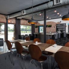 Houston Wine Bar is Industrial, Modern