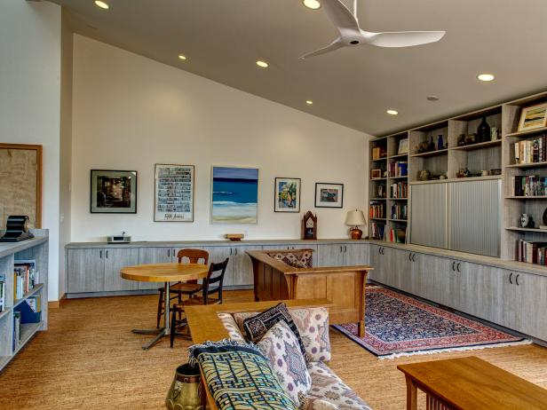 Beautiful Patterns Brighten Up Neutral Living Room